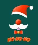 Jultomtenhatt, mustasch och skägg royaltyfri illustrationer
