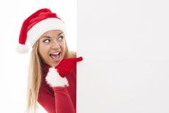 Jultomtenkvinna arkivbilder