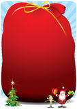 Jultomtensäck - illustration Royaltyfri Bild