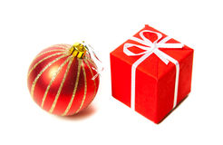 Jultoys och gåvor. Royaltyfri Bild