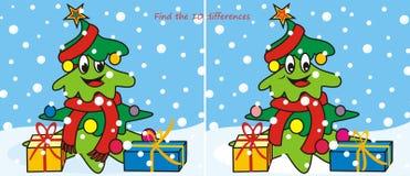 Julträd-halsduk 10 skillnader Arkivbilder