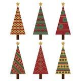 jultrees royaltyfri illustrationer