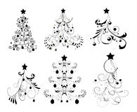 jultrees stock illustrationer