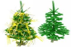 jultrees två Royaltyfri Fotografi