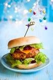 JulTurkiet hamburgare Arkivfoto