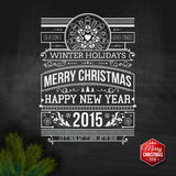 Jultypografi för din design för vinterferier Royaltyfria Bilder