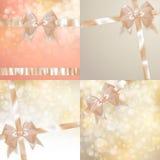 Juluppsättning av gnistrandebakgrund 10 eps Arkivfoton