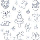 Juluppsättninglägenhet av klotter Fotografering för Bildbyråer