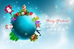 Julvärld stock illustrationer