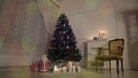 Julvardagsrum lager videofilmer