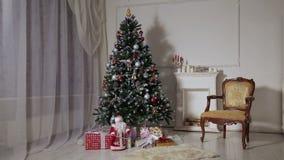Julvardagsrum stock video