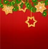 Julvektorbakgrunden stock illustrationer