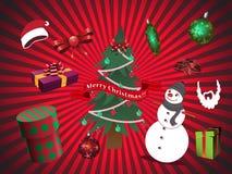Julvektorbeståndsdelar Royaltyfri Fotografi