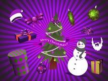 Julvektorbeståndsdelar Arkivbilder