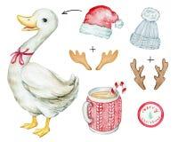 Julvitgås vektor illustrationer