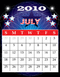July 2010. Vector Illustration of 2010 Calendar with a monthly, I have all 12 months designed seperately or all 12 months in a single design Vector Illustration