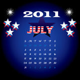 July 2011. Vector Illustration of 2011 Calendar with a monthly, I have all 12 months designed seperately or all 12 months in a single design royalty free illustration