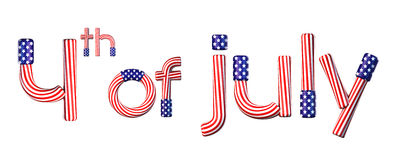July 4. 4th of July American text Stock Photography