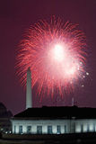 July 4 fireworks and Washington Monumen Stock Photography
