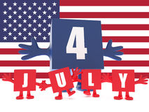 July 4th Royalty Free Stock Photo