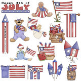 July 4th Americana Clipart Royalty Free Stock Photography