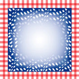 July 4th Background. Vector Illustration for the 4th of July Independence. Square background Stock Illustration