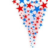 July 4th background – stars flow. Stock Photo