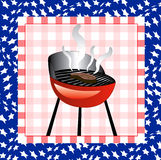 July 4th BBQ Background. Vector Illustration for the 4th of July Independence bbq Square background Vector Illustration