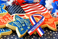 July 4th Decorations and Cookies Stock Images