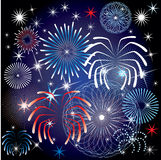 July 4th Fireworks. Vector Illustration for the 4th of July Independence Day Background Vector Illustration