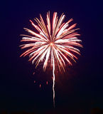 The July 4th fireworks. In New Jersey Royalty Free Stock Photo