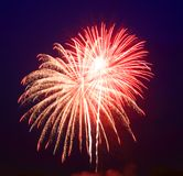 The July 4th fireworks Royalty Free Stock Photos