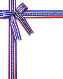 July 4th Patriotic Border Ribbons. 3D Image and Illustration composition stars and stripes ribbons patriotic background, border or frame for American holiday Stock Photography
