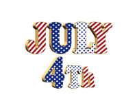July 4th patriotic graphic isolated stock images