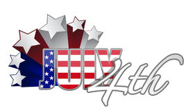July 4th starts  / vector Royalty Free Stock Photography