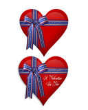 July 4Th and Valentine hearts Stock Photos