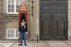 Free July 9 2018 - Royal Life Guard In Front Of Amalienborg Palace, Copenhagen, Denmark, Europe Royalty Free Stock Photography - 138316807