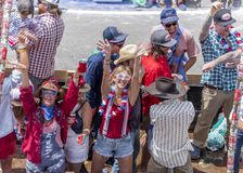 July 4, 2018 - Annual Independence Day Parade, Telluride, Color stock image