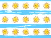 Argentina Independence Day seamless pattern. 9 July, Argentina Independence Day seamless background in national flag color theme. Celebration banner with flags Royalty Free Stock Image