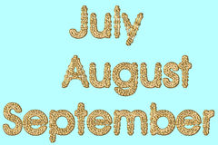 July August and September Stock Photos