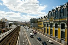`24 July Avenue`. Lisbon - Portugal stock images