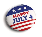 July 4 badge. July 4 USA Independence Day badge Stock Photography