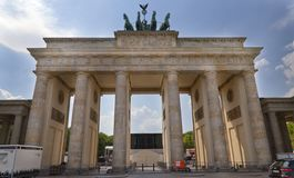 Brandenberg Gates on a sunny day royalty free stock photos