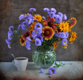 July bouquet stock image