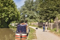 Tow Path Kennet and Avon Canal Stock Photography
