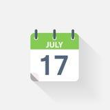 17 july calendar icon. On grey background Stock Image