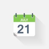 21 july calendar icon. On grey background Stock Image