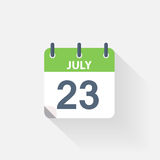 23 july calendar icon Royalty Free Stock Image