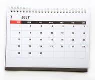 July - calendar Royalty Free Stock Image