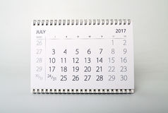 July. Calendar of the year two thousand seventeen. July. Calendar sheet. Calendar of the year two thousand seventeen stock photos